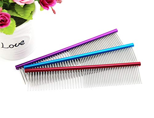 16cm Anti-Static Stainless Steel Pet Grooming Brush by Glumes
