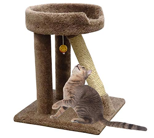 "CozyCatFurniture 24"" Sisal Cat Scratching Post Bed"