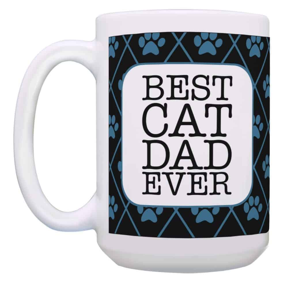 """Best Cat Dad Ever"" 15 oz Mugs by ThisWear"