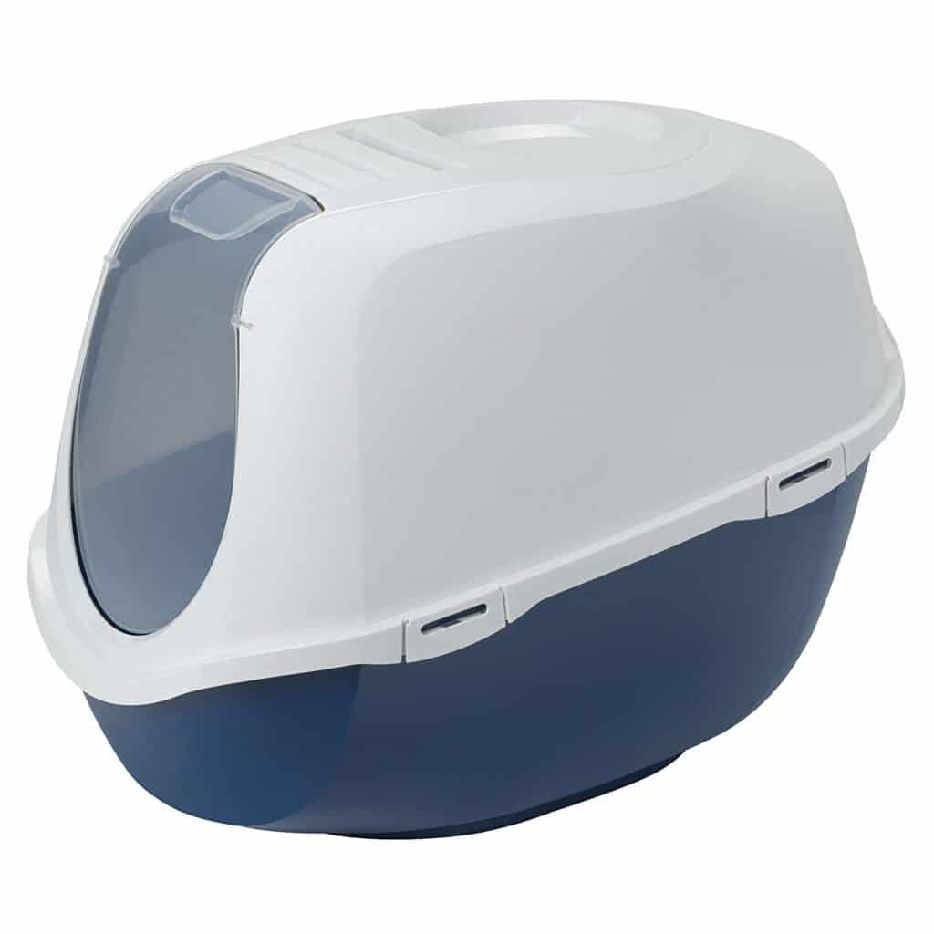 Enclosed Blue Cat Litter Box by Moderna Products