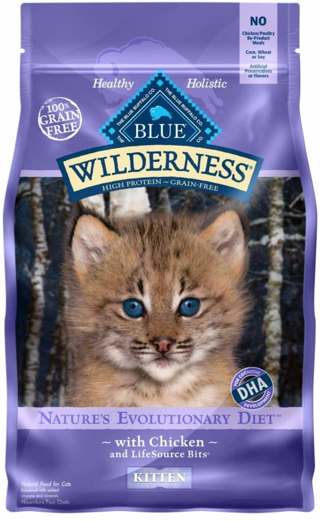 Wilderness High Protein and Grain Free Natural Kitten Dry Cat Food (Chicken) by Blue Buffalo