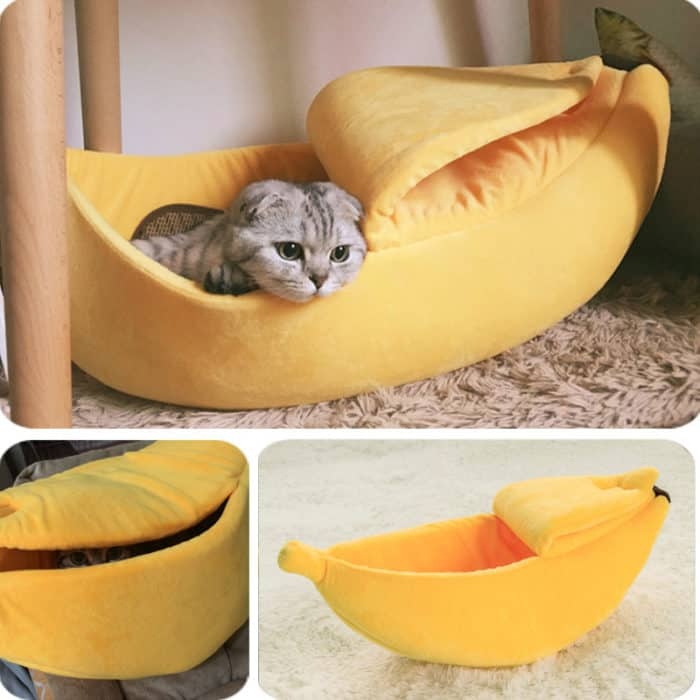 Banana Cat Bed Cozy Pet Cushion