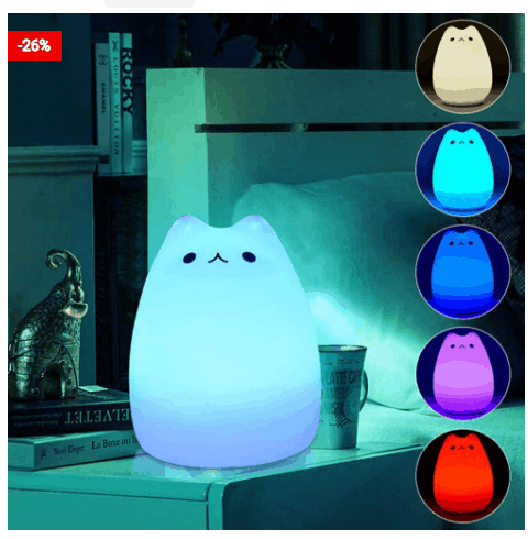 USB Children Cat Night Touch LED Light